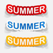 Summer inscription icons — Vecteur