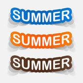 Colorful summer inscriptions — Vector de stock