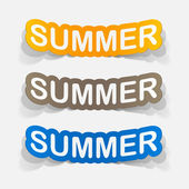 Summer inscription icons — Stock Vector