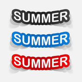 Colorful summer inscriptions — Wektor stockowy