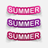 Summer inscription icons — 图库矢量图片