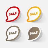 Sticker of sale symbol — Stock vektor
