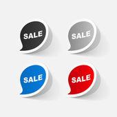 Sticker of sale symbol — Vector de stock