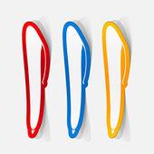 Klistermärke av pennan ikonen — Stockvektor