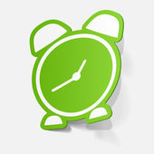 Sticker of alarm clock — Vector de stock