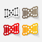 Molecule and DNA set — Stock Vector