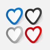Sticker of Valentine's day heart — Vetorial Stock