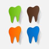 Sticker of tooth — Stockvektor