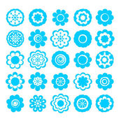 Sticker of flowers — Stock Vector