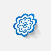 Sticker of flower — Stock Vector