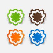 花のステッカー — ストックベクタ