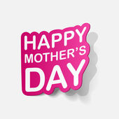 Sticker for mother's Day — Stockvektor
