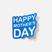Sticker for mother's Day — Stock Vector
