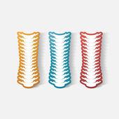 Carta ritagliata autoadesivo: colonna vertebrale — Vettoriale Stock