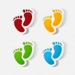 Footprint symbol. — Stock Vector