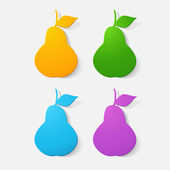 Pear fruit symbol — Stock Vector