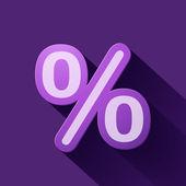 Signo de porcentaje — Vector de stock