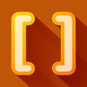 Brackets symbol — Stock Vector