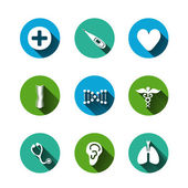 Paper clipped sticker: medicine — Stockvector