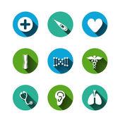 Paper clipped sticker: medicine — Stock Vector
