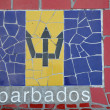 Flag of Barbados — Stock Photo