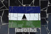 Flag of Lesotho — Stock Photo