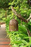 Thai Style Decorative Bamboo Lamp. — Stock Photo