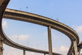 Bhumibol Bridge, The Industrial Ring Road Bridge in Bangkok, Tha — Stock Photo