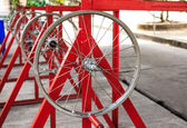 Used Bicycle Wheel with no Tire. — Stock Photo