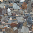 Colorful stone wall - Stock Photo