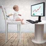 Computer-baby — Stockfoto #22804724
