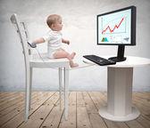 Computer baby — Stock Photo
