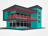 3d house vector — Vecteur