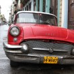 Shiny red 1957 Buick in Havana — Stock Photo #29154523