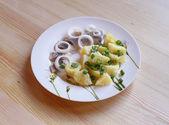 Potato with herring — Stock Photo