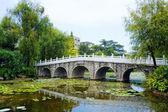 亚洲花园石桥 — 图库照片