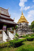 Ancient temple, Wat Chiang Man temple in Chiang Mai, Thailand. — 图库照片