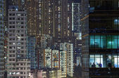 City night in Hong Kong — Stock Photo
