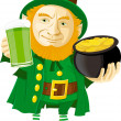Leprechaun — Stockvectorbeeld
