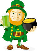 Leprechaun — Vector de stock