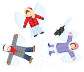 Snow angels — Stock Vector
