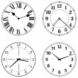 Set of different clock faces — Stock Vector #45206253