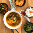 Asian vegetarian composition of food — Stock Photo
