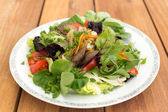 Mixed salad with liver — Stock fotografie