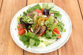 Salad with liver — Stock Photo