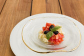 Fresh mozzarella and tomatoes tartar — Stock Photo
