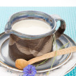 Kefir in jug — Stockfoto