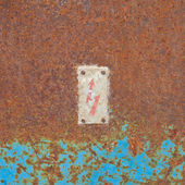Rusty cover electrical panel background — Stock Photo