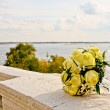 Royalty-Free Stock Photo: Wedding bouquet on a background of the river