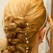 Stock Photo: Bride hairstyle